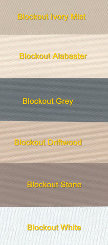 Roller Blockout colour chart - make your selection -