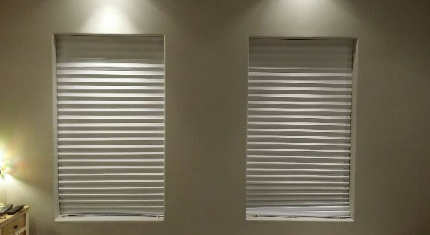 Mr Cobb home with temp blinds