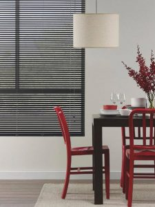 dining-room-25mm-black-aluminium-blinds
