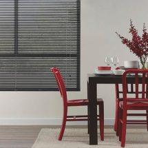dining-room-black-aluminium-blinds