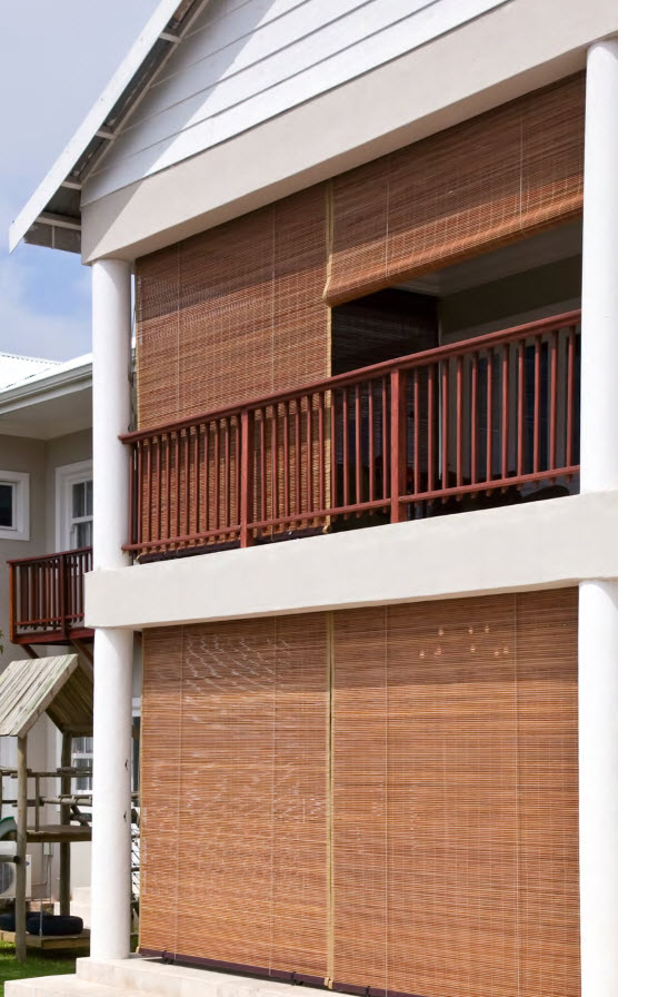 Outdoor Bamboo Roller White House