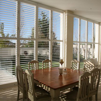 Benefits of indoor shutters pvc shutters blinds direct for Exterior window shutters south africa