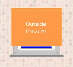Outside mount blinds
