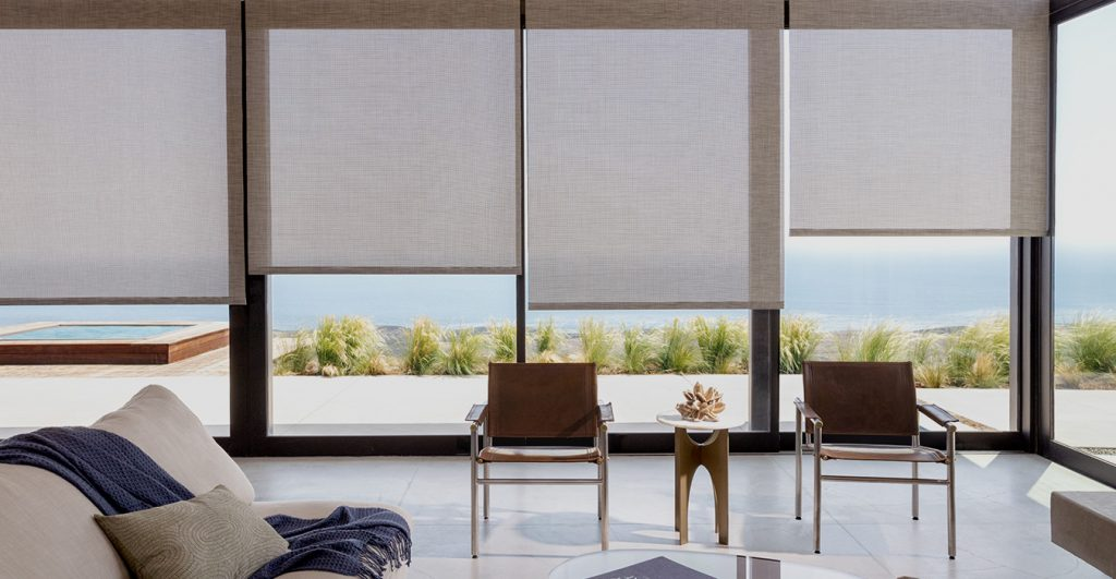 fabric roller blinds beach houses
